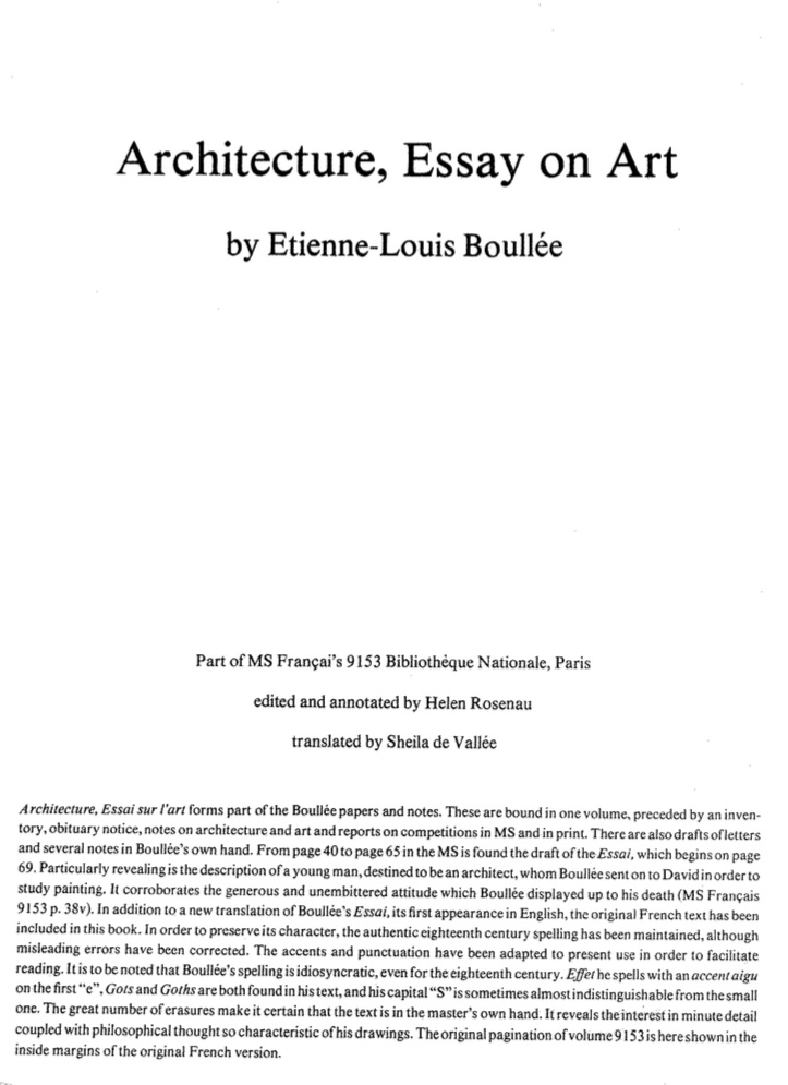 essay on architecture Essays on modern architecture for the national historic landmark program introduction chronology essays 1 the skyscraper 2 the modern house.